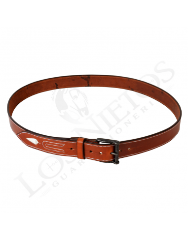 Cinturón de cuero hecho a mano | Piña Blanca