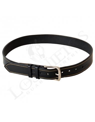 0dd49b0888c Cinturón Cuero Hecho a Mano Negro Elegante