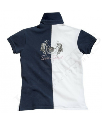 Polo Equi-Theme Team Spirit | Azul - Blanco