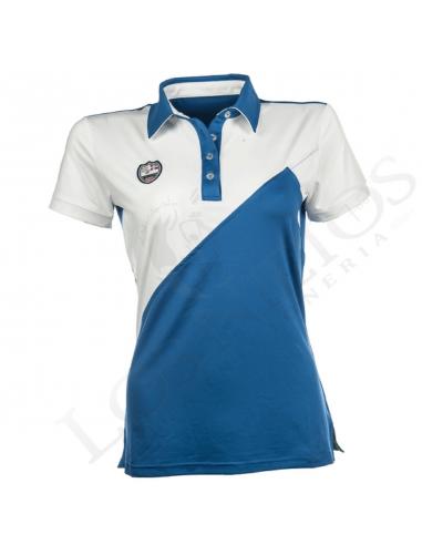 Polo Equi-Theme Team Spirit   Azul - Blanco