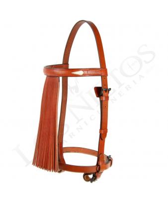 Cabezal vaquero con mosquero de 'abanico'