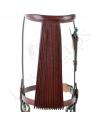 Cabezal vaquero con mosquero de 'abanico' (piña cuero)
