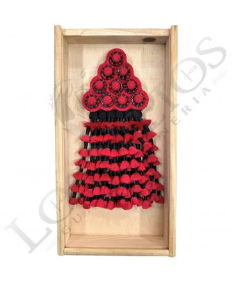 Mosquero De Seda Artesano Premium | Negro/Rojo