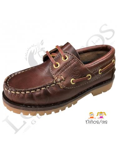 Zapato náutico de cuero   Niños