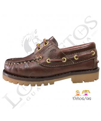 Zapato náutico de cuero | Niños