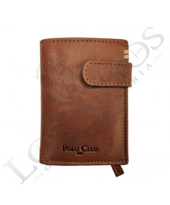 Cartera Caballero Polo Club | Broche Beige