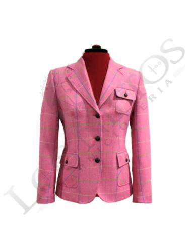 lo último 39418 ab9c1 Chaqueta de lana de mujer | Espiga Rosa Cuadros