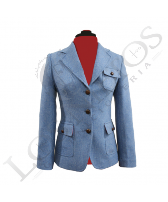 Chaqueta de lana de mujer | Celeste