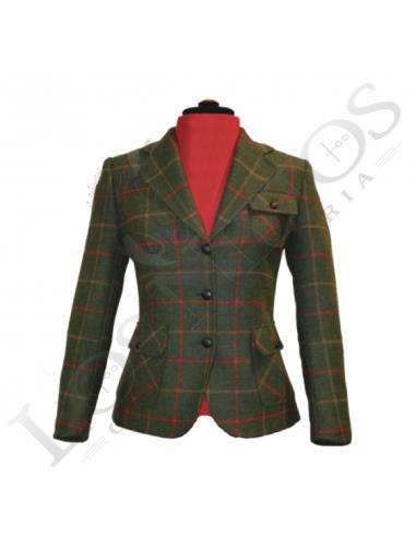280fea9c72e0 Chaqueta de lana de mujer | Verde Cuadros