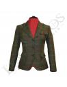 Chaqueta de lana de mujer   Verde Cuadros