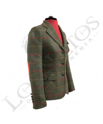 Chaqueta de lana de mujer | Verde Cuadros