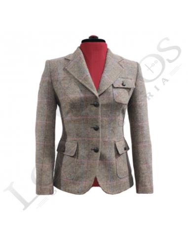 Chaqueta de lana de mujer | Verde Espiga Beige