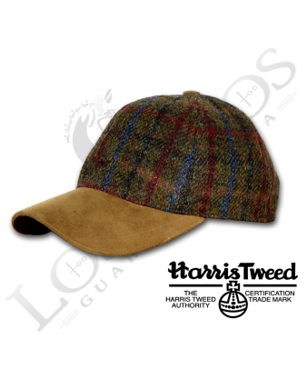 Gorra Lana Los Nietos Strike 'Harris Tweed' | Cuadros Verde