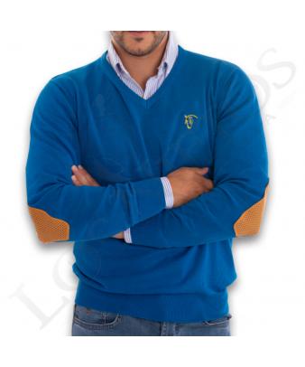 Jersey Cuello de Pico Con Coderas 'La Garrocha' | Azulón