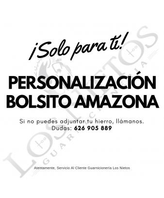 Personalización Bolsito Amazonas Los Nietos