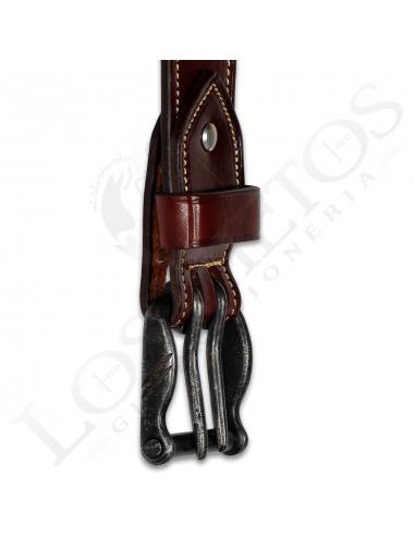 Cinturón de cuero hecho a mano Liso | Cereza