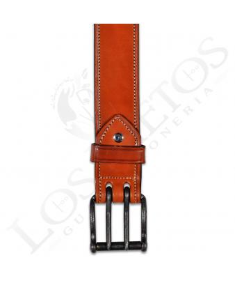 Cinturón Los Nietos Hebilla Doble Pincho | Oscuro