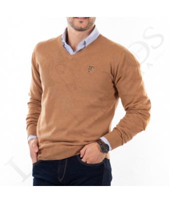 Jersey Cuello de Pico Con Coderas 'La Garrocha' | Camel
