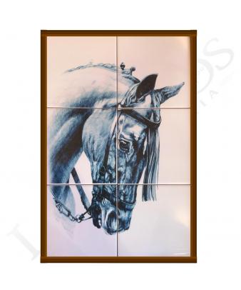 Cuadro Ecuestre Azulejo | Mosquero