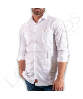 Camisa Guayabera La Garrocha   'Camino' Blanca