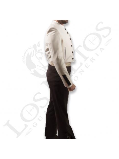 Traje de corto caballero | 500 Rayas Beige Contrastes
