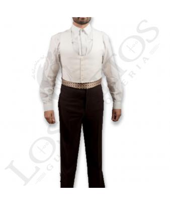 Traje de corto caballero | Sarga Blanco Roto