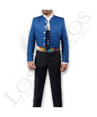 Traje de corto caballero | Sarga Azul Eléctrico