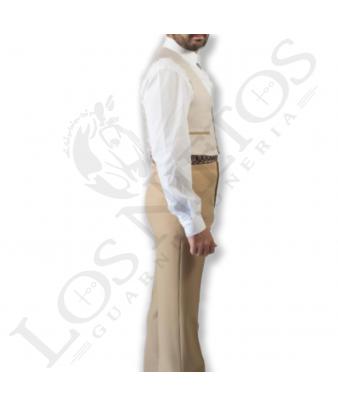 Traje de corto caballero | Pata de Gallo Beige Contrastes