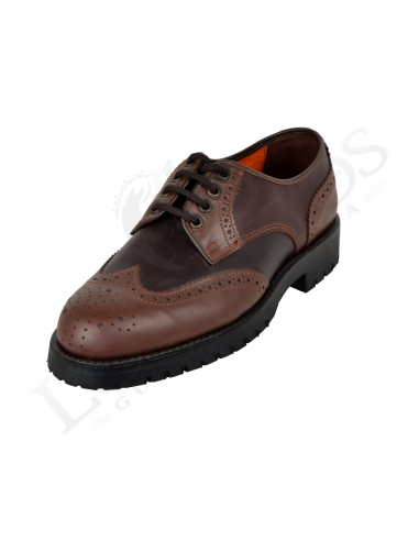 Zapato 1352   Color Castaña / Piso Montaña