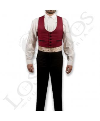 Traje de corto caballero | Sarga Burdeos Contraste