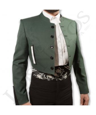 Traje de corto caballero   Sarga Verde Carruaje Contrastes Negros