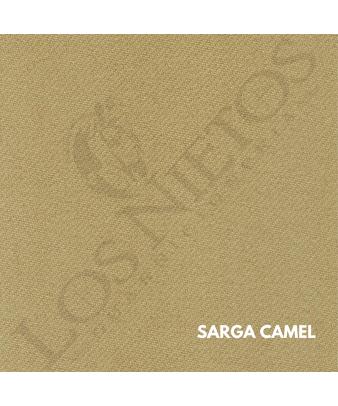 Chaleco Traje de Corto |Sarga Camel Contrastes