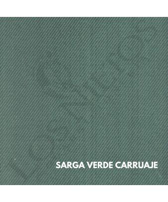 Chaleco Traje de Corto |Sarga Verde Carruaje con Contrastes