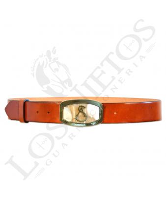 Cinturón Los Nietos Personalizado | Hebilla Asta de Toro