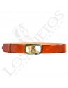 Cinturón Los Nietos Personalizado   Hebilla Asta de Toro