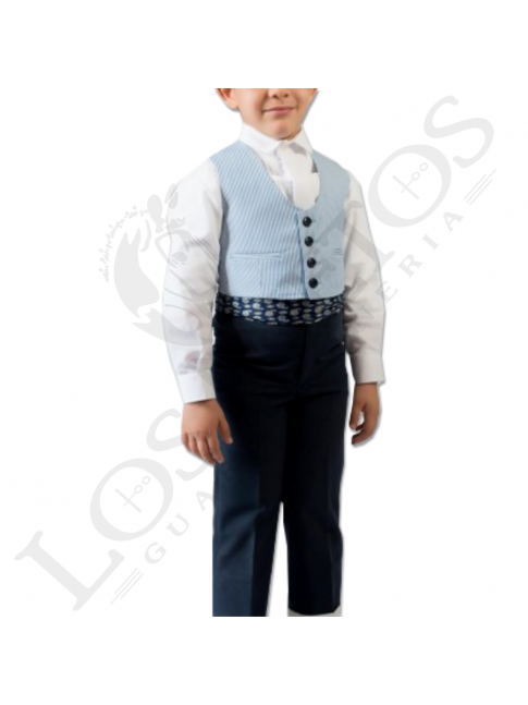 Traje de corto niño | 500 rayas azul