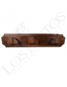 Percha de madera para cabezales | 3 perchas
