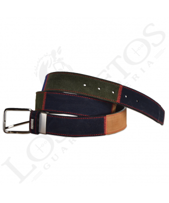 Cinturón Patchwork Raya | Azul/Verde