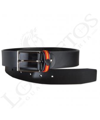 Cinturón Piel España Raya | Negro