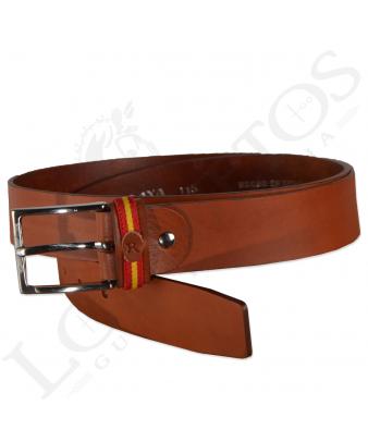 Cinturón Piel España Raya | Avellana