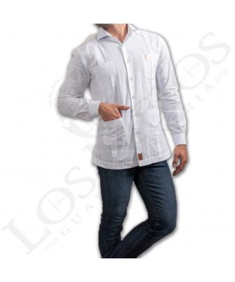 Camisa Guayabera La Garrocha 'Cartuja' | Blanca