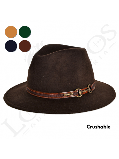 Sombrero Indiana Lana Crushable Impermeable | Varios Colores