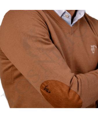 Jersey de pico con coderas 'La Garrocha' | Nogal