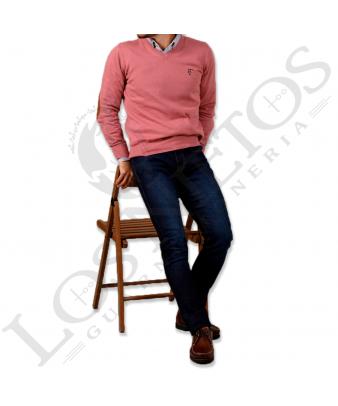 Jersey de pico con coderas 'La Garrocha' | Rosa