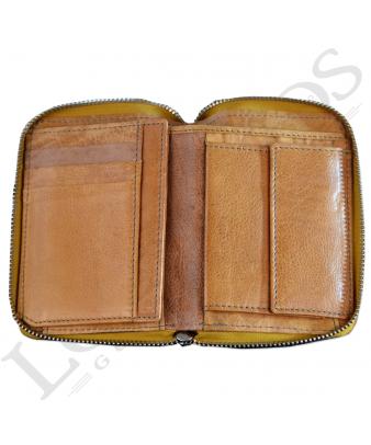 Billetera señora con cremallera | Mostaza