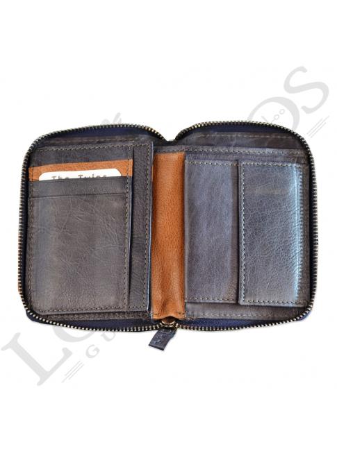 Billetera señora con cremallera LIB02527LL | Azul