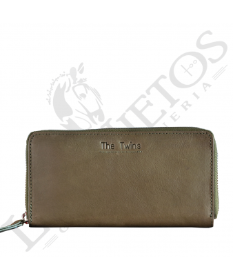 Billetera señora cremallera CRM0256LL | Kaki