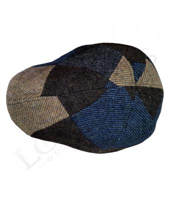 Gorra Jockey |Patchwork / Tonos azules