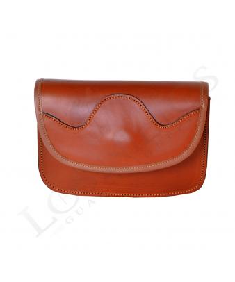 Bolsito-riñonera rociero liso 184 | Avellana